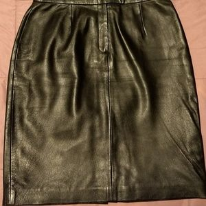 Leather skirt, size 12